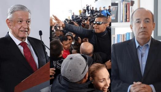 Protestas en la PF contra AMLO apuntan a Calderón; él lo niega