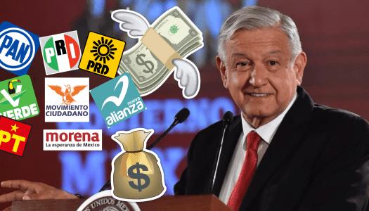 AMLO les pide reducir dinero a la mitad y los partidos hacen mutis