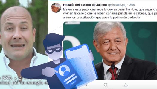 Hackean cuenta de Fiscalía de Alfaro; lanzan mensaje amenazante contra AMLO