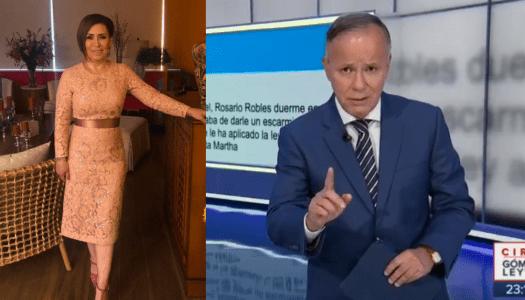 """Ciro Gómez Leyva se queja que """"deformaron"""" mensaje donde defendió a Rosario Robles"""