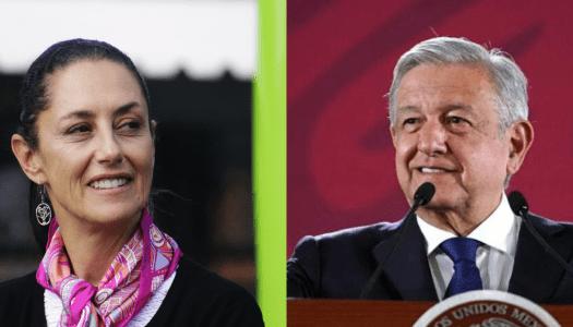 AMLO respalda a Sheinbaum por no reprimir la marcha feminista