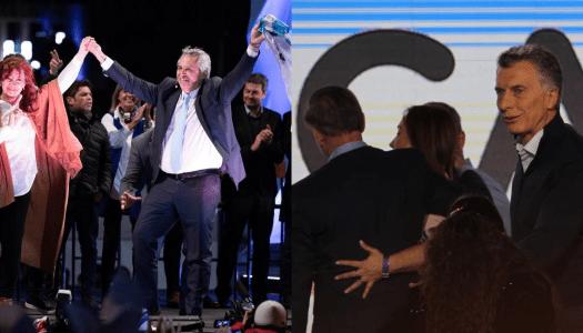 Alberto Fernández y Cristina de Kichner dan paliza a Macri en Argentina