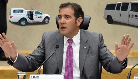 Desaparecen 320 vehículos en el INE presidido por Lorenzo Córdova