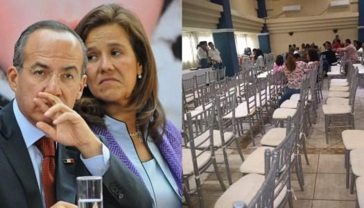 Dejan solos a Calderón y Margarita en asamblea de México Libre en Veracruz