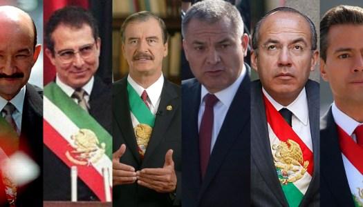 Salinas, Zedillo, Fox, Calderón y EPN encubrieron a García Luna