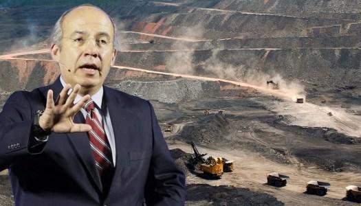 Calderón, el gran responsable del saqueo de las mineras a la nación