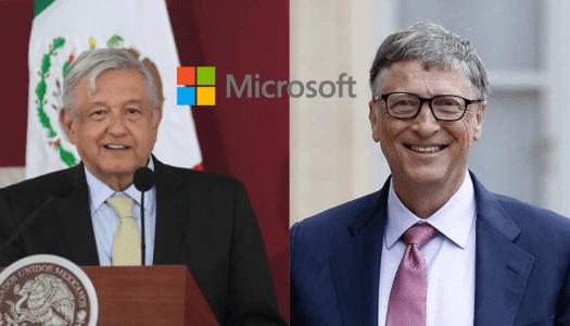 AMLO consigue que Microsoft invierta mil 100 MDD en México