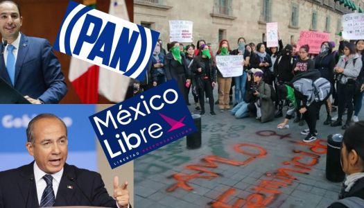 México Libre y el PAN se suman a paro feminista para golpear a AMLO