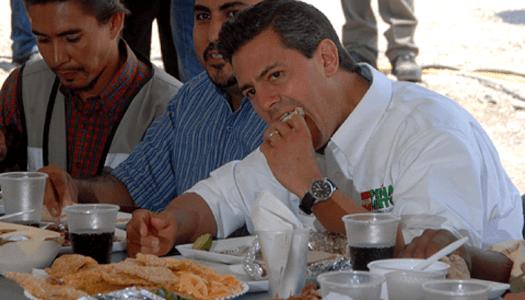 """Peña Nieto y su gabinete se gastaron 35 mil millones en """"alimentos"""""""