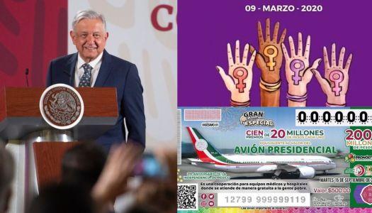 Ante paro feminista, AMLO pospone venta de boletos de la rifa del avión