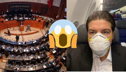 Samuel García se queja porque tiene que ir a trabajar al Senado