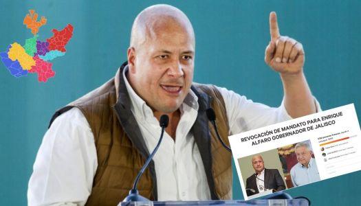 Por autoritario, piden revocación de mandato para Enrique Alfaro
