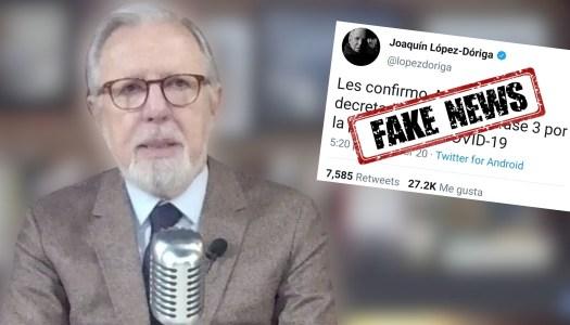 López Dóriga hace ridículo con nueva fake news y lo tunden en redes