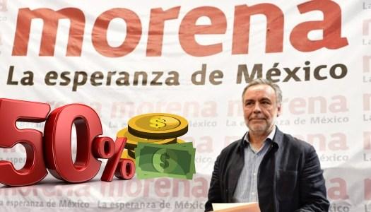 Morena renuncia al 50% de su financiamiento; lo dona a lucha vs el Covid-19