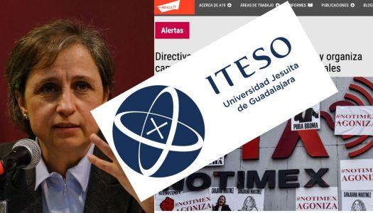 ITESO se deslinda de reportaje de Aristegui y Artículo 19 contra Sanjuana Martínez