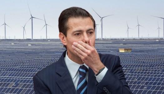 CFE perdió 3 mil millones con EPN por comprar energías limpias a sobreprecio