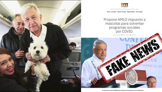 FALSO: AMLO no propuso ningún impuesto por tener mascotas