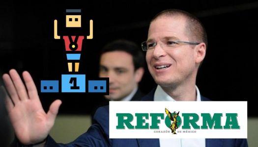 """Ricardo Anaya es el máximo """"contrapeso"""" de AMLO, afirma Reforma"""