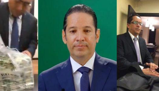 Casi llorando, Pancho Domínguez aprovecha mañanera para decir que es inocente