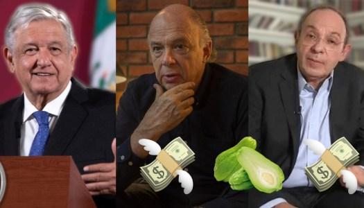 AMLO exhibe a Krauze y Camín por recibir chayotes millonarios del PRIAN