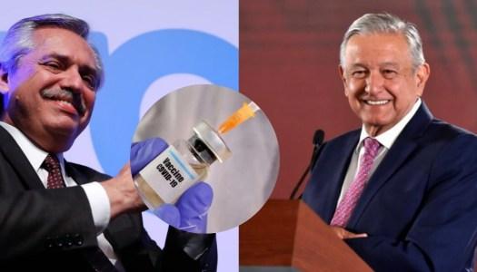 México y Argentina producirán 250 millones de vacunas contra el Covid19