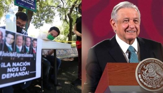 Ciudadanos juntan 1 millón de firmas; AMLO, listo para llevar a juicio a ex Presidentes