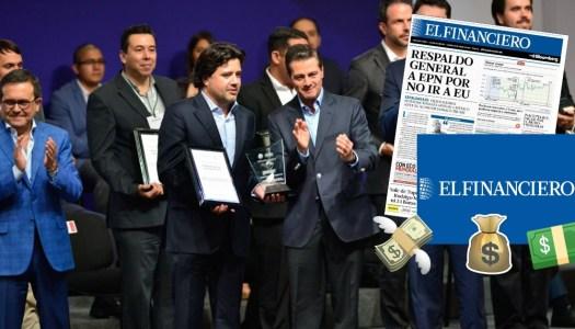 Peña Nieto rescató a El Financiero con 100 millones de dólares