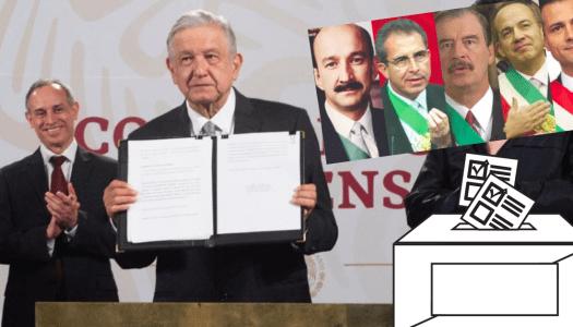 A temblar ex presidentes: AMLO envía petición al senado para consulta