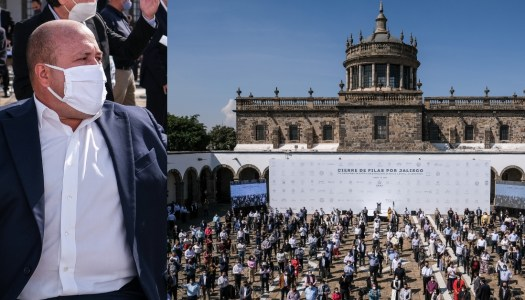 Alfaro realiza evento masivo contra AMLO pese a repunte de covid en Jalisco