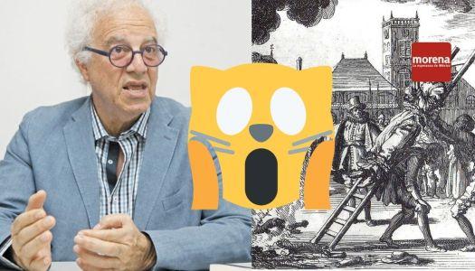 """El escritor Martín Moreno pide """"quemar vivos"""" a morenistas en el zócalo"""