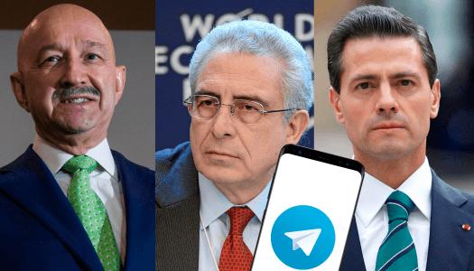 Salinas, Zedillo y Peña Nieto usan Telegram para organizarse contra AMLO