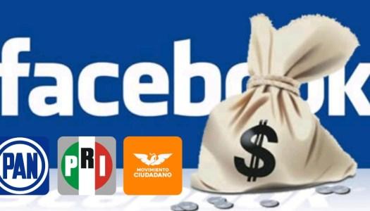 MC, PAN y PRI compran publicidad por más de 3 millones en Facebook