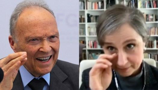 """Gertz estalla con Aristegui y ella pregunta si los de la DEA son """"pendejos"""""""