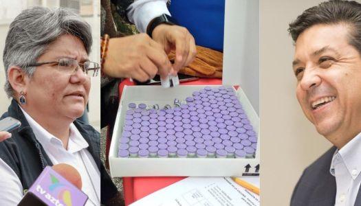 Arriesga gobierno de Tamaulipas vacunas covid-19 al exponerlas para foto
