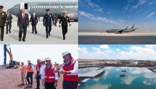 Con AMLO aeropuerto lleva 50% de avance; con EPN, NAIM se quedó en 21%
