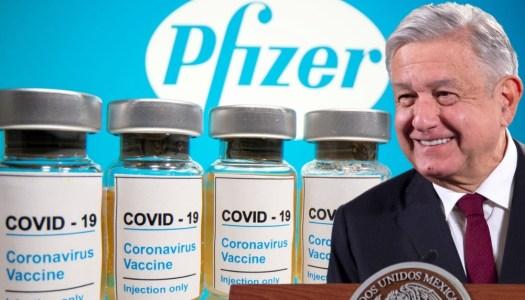 Pfizer envía carta a AMLO y confirma envío de casi 500 mil vacunas