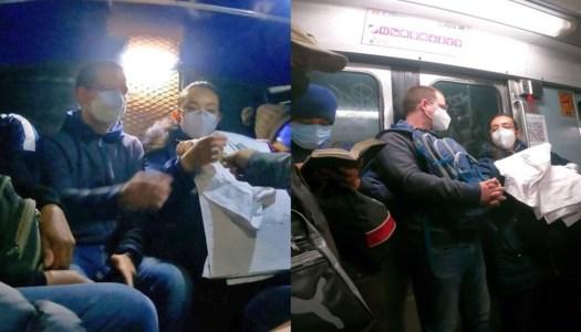 """Anaya descubre las combis y se da un """"baño de pueblo"""" en el Metro"""