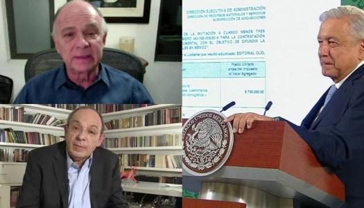 AMLO revela contratos millonarios del INE y TEPJF para Krauze y Camín