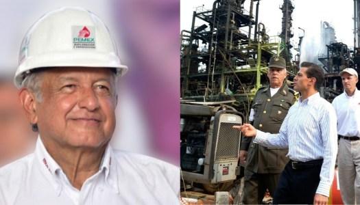 AMLO quiere recuperar plantas que Peña Nieto malbarató en Pemex