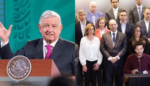 AMLO exige a EU dejar de financiar a sus adversarios políticos