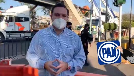 Panistas lucran con tragedia del Metro y van al lugar a hacer campaña