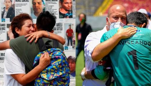 Mientras madres de desaparecidos piden su ayuda, Alfaro se va al fútbol