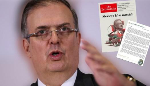 Ebrard pone calladón a la neoliberal The Economist