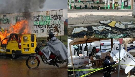 Un domingo electoral acompañado de sucesos violentos en el país
