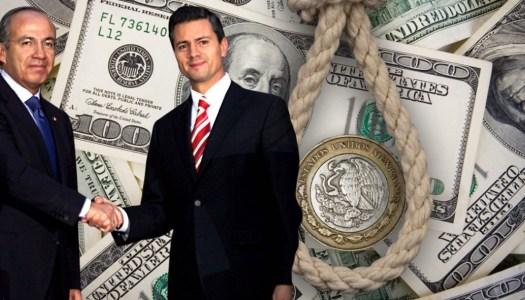 Calderón y Peña Nieto elevaron la deuda de México un 139%