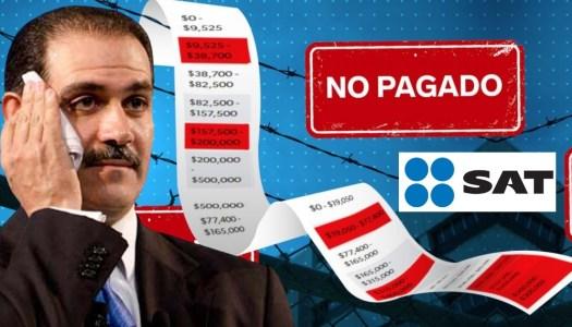 Guillermo Padrés le debe al SAT 200 millones de pesos