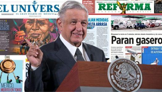 AMLO exhibe al Reforma y a El Universal durante la mañanera