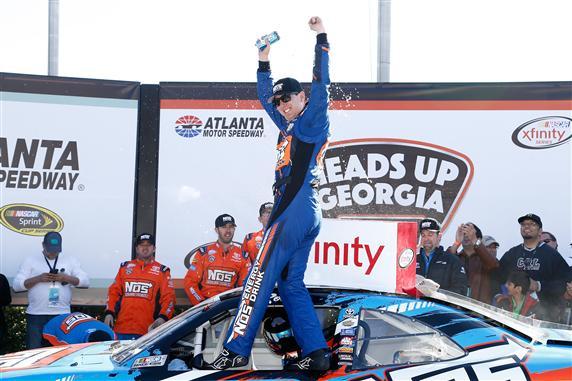 during the NASCAR XFINITY Series Heads Up Georgia 250 at Atlanta Motor Speedway on February 27, 2016 in Hampton, Georgia.