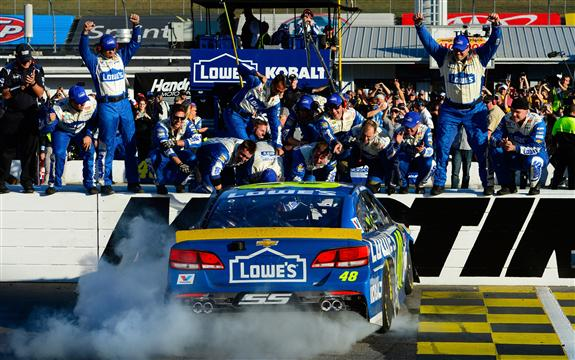 Jimmie Johnson's win at Martinsville; qualifies for final race