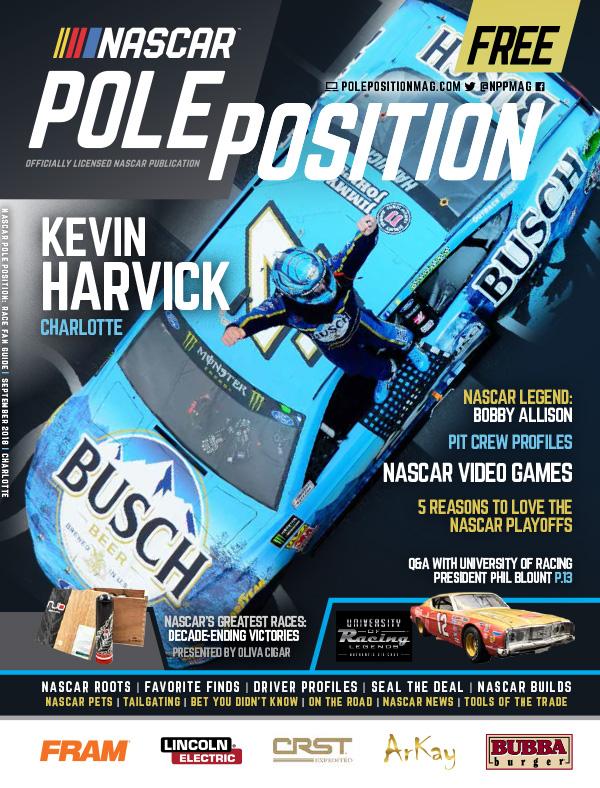 NASCAR Pole Position Charlotte in September 2018